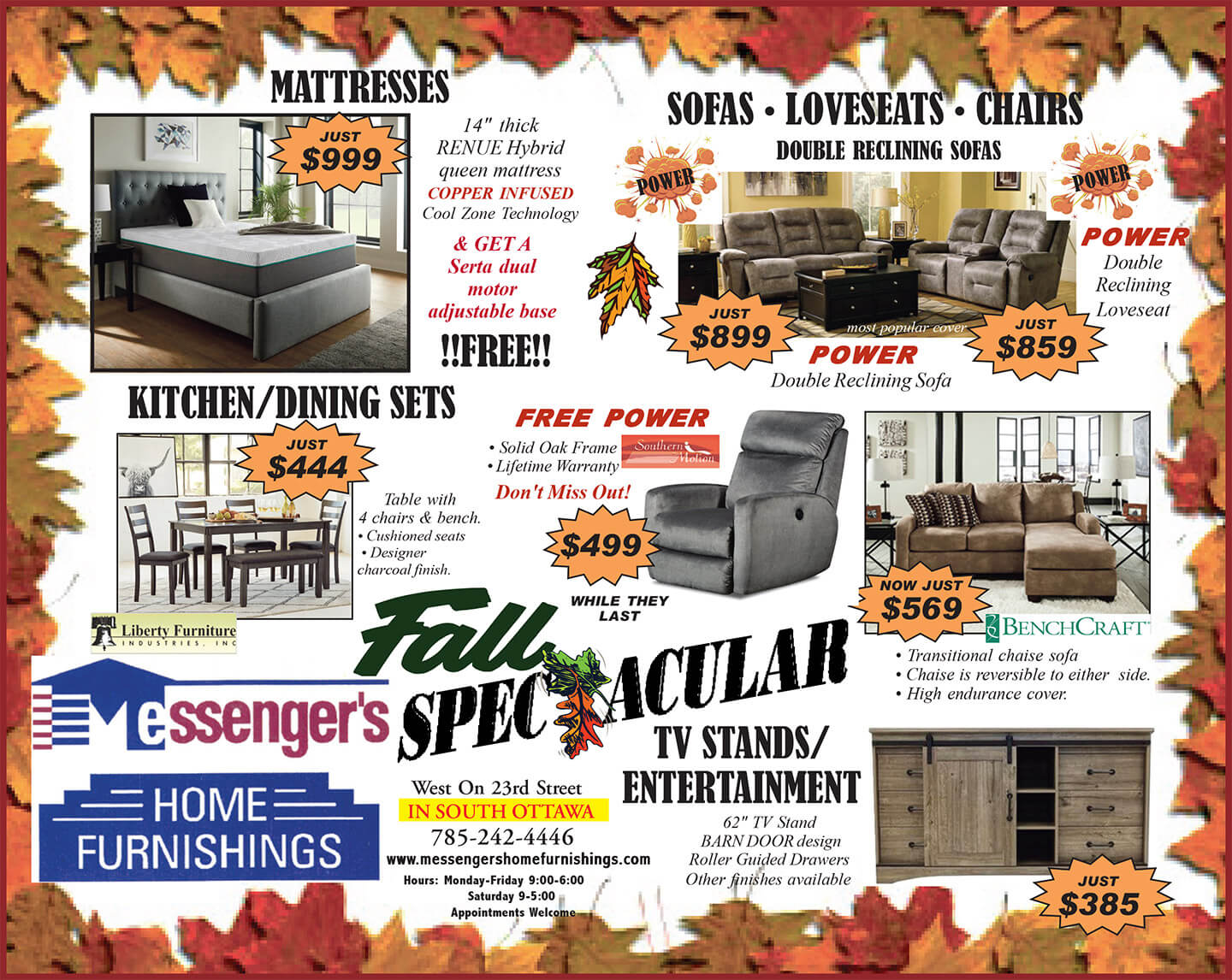 Fall Savings Going On Now!